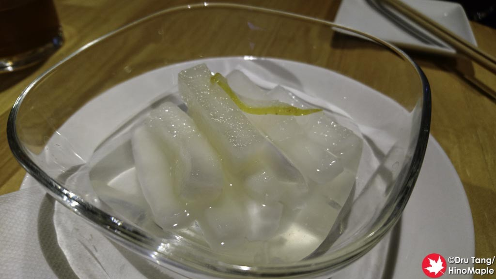 Pickled Daikon with Yuzu