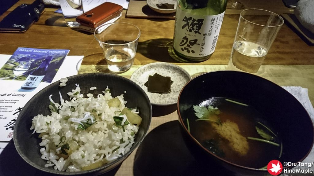 Plated Donabe Rice with Baitfish