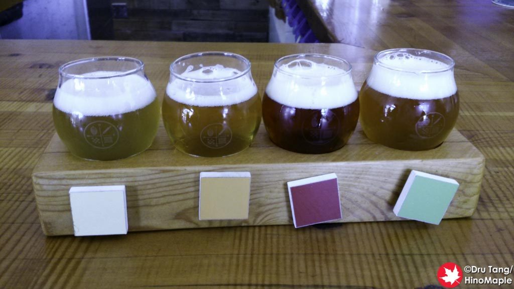 Flight at Four Winds Brewing