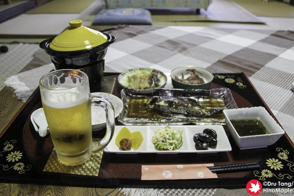Dinner at Marimoso Minshuku
