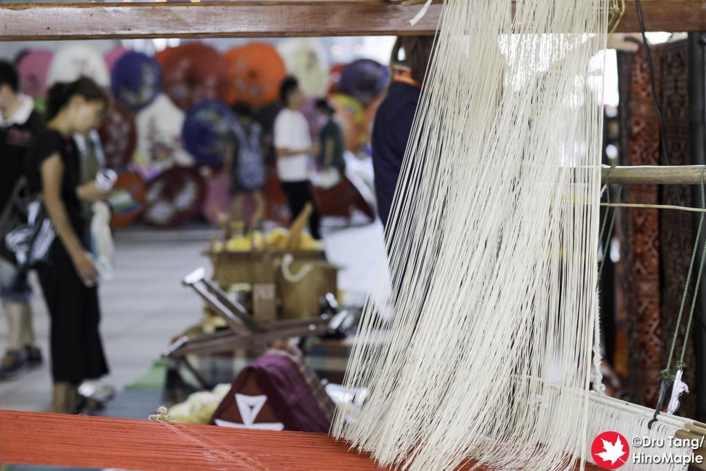 Weaving at the Thai Factory Market